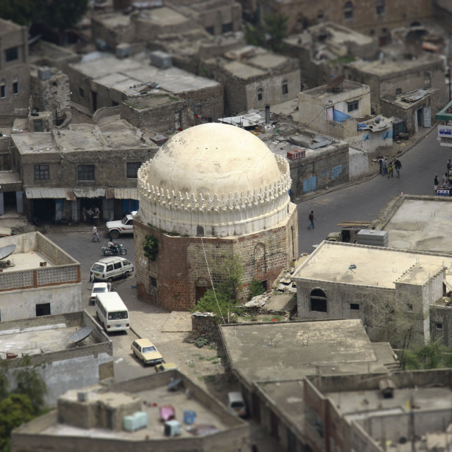 """Over View Of A Dome In Taiz, Yemen"" stock image"