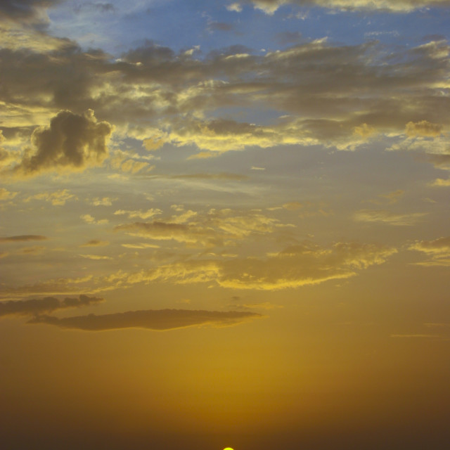 """Amazing Sunset On The Red Sea In Al Khukaha, Yemen"" stock image"