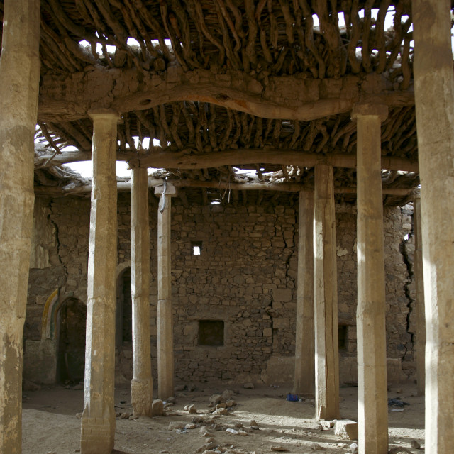 """Old Old Mosque, Marib, Yemen"" stock image"