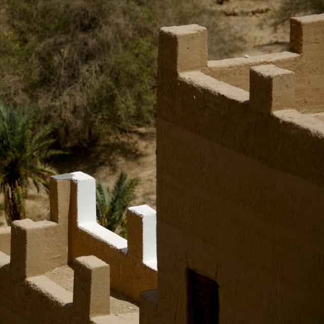 """Adobe And Painted Buildings, Wadi Doan, Yemen"" stock image"