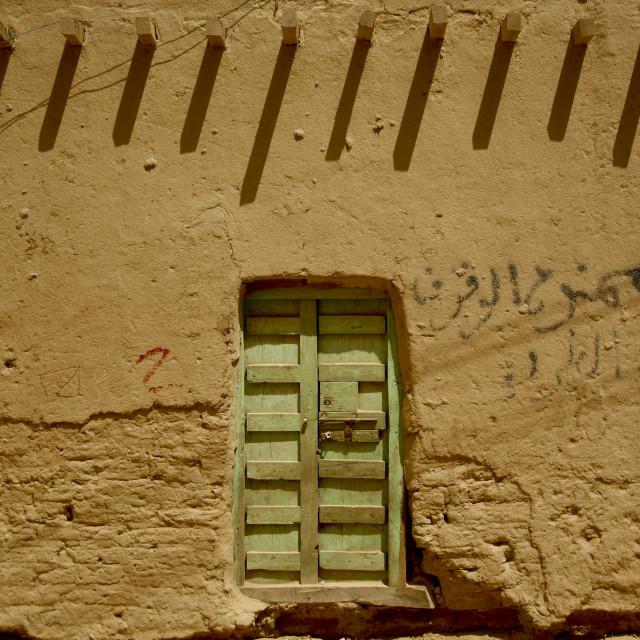 """Door, Wadi Doan, Yemen"" stock image"