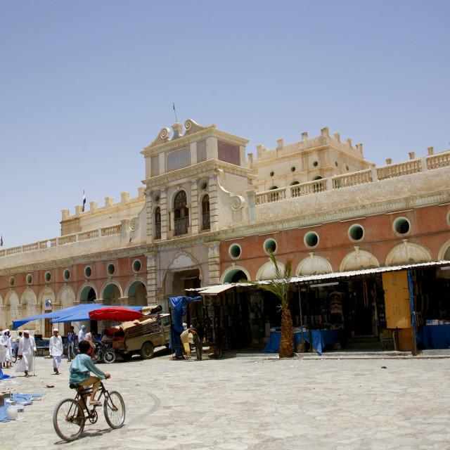 """""""View Of Seiyun Market, Yemen"""" stock image"""