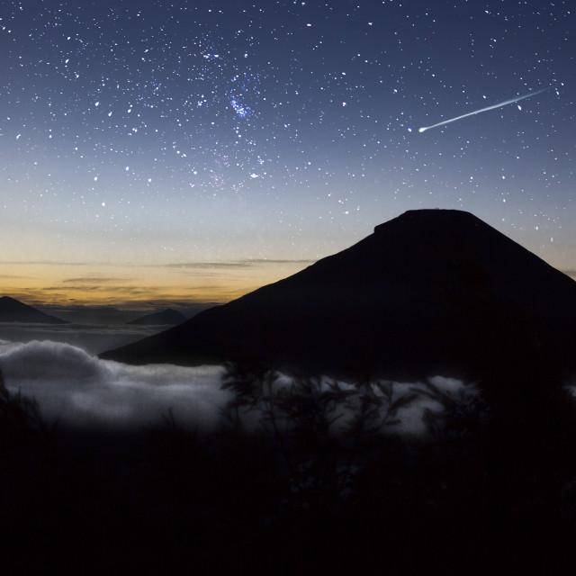 """""""Bukit Sikunir, Dieng Plateau, Wonosobo"""" stock image"""