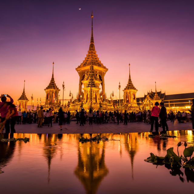 """Royal Cremation of King Bhumibol, Rama 9"" stock image"