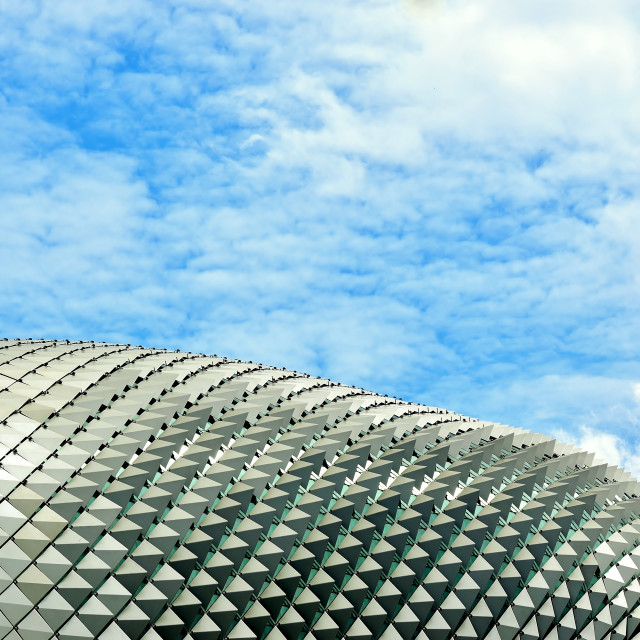 """""""The Esplanade Theaters in Singapore"""" stock image"""