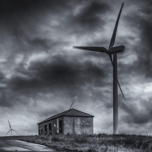 """Pates Hill Wind Farm"" stock image"