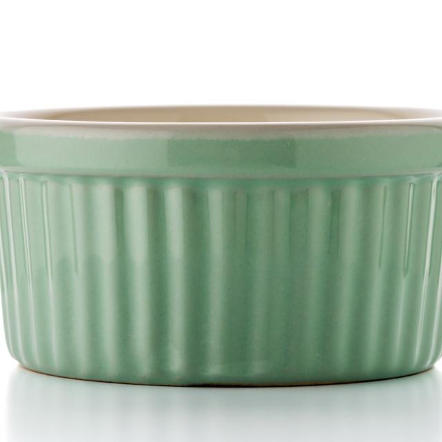 """Green ceramic bowl"" stock image"
