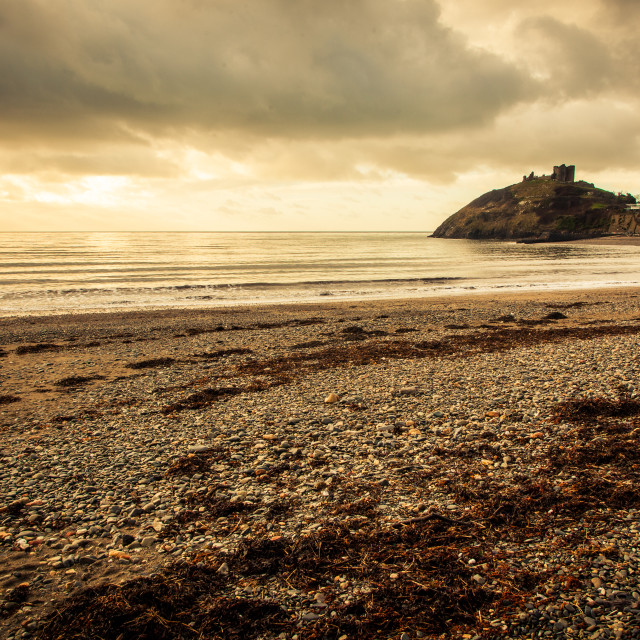 """Criccieth Castle Sunset"" stock image"