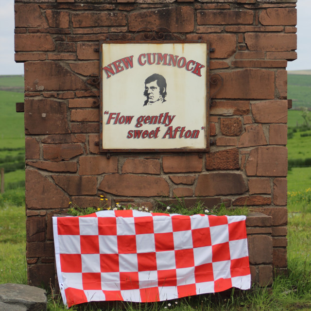 """New Cumnock Sign Decorated"" stock image"