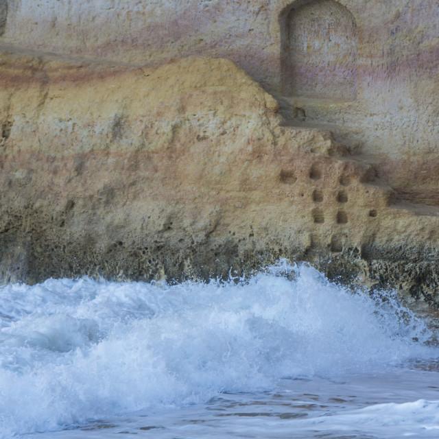 """Algarve cliffs"" stock image"