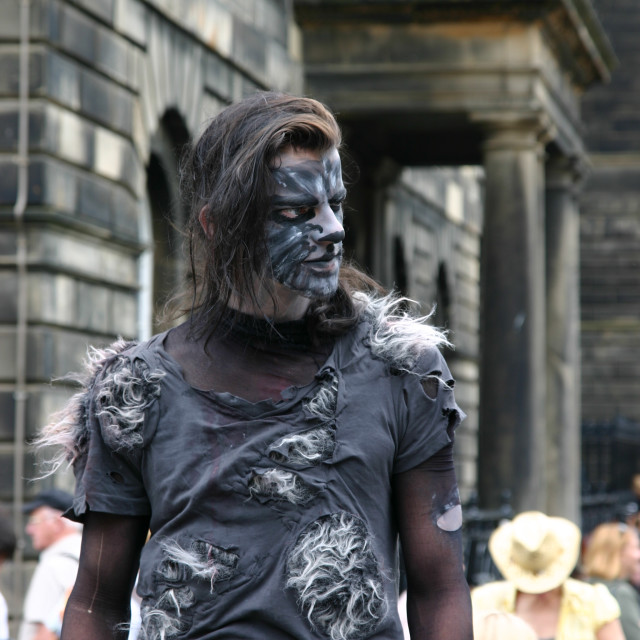 """Street Entertainer Edinburgh Festival"" stock image"