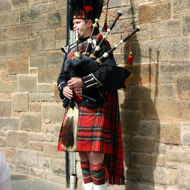 """Scottish Piper"" stock image"