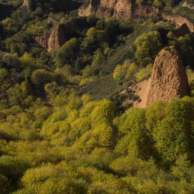 """Las Medulas gold mine"" stock image"