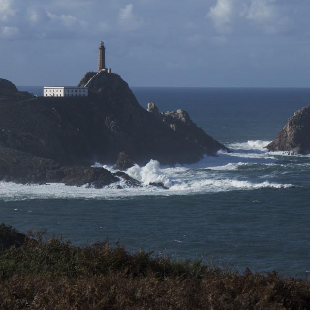 """Faro de Cabo Vilan"" stock image"
