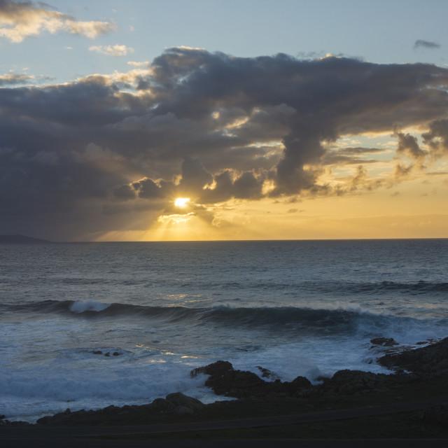 """Roncudo sunset"" stock image"