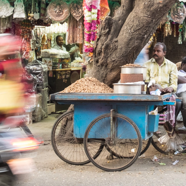 """Streetscape Bangalore"" stock image"