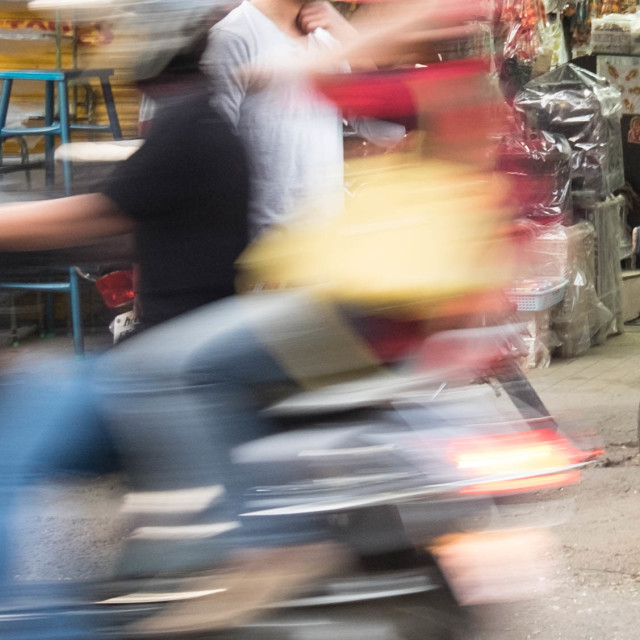 """On the move - Streetscape Bangalore"" stock image"