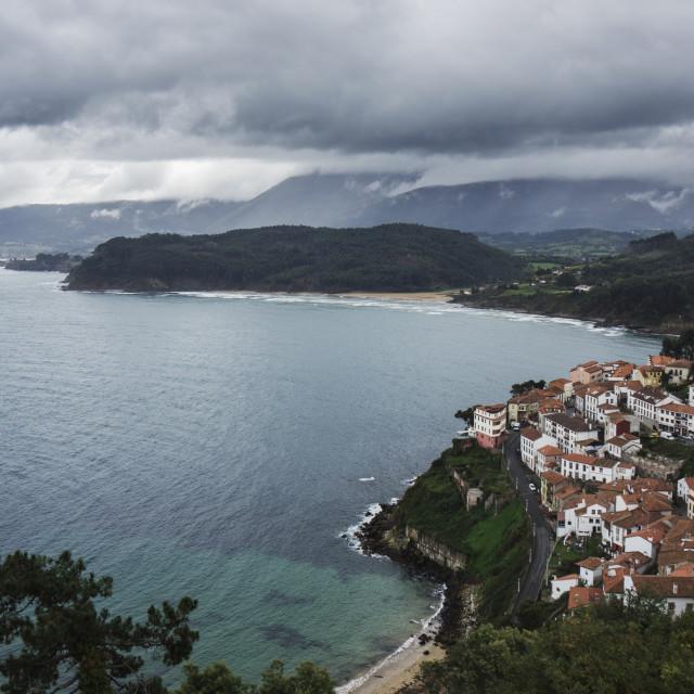 """""""Lastres, Asturias"""" stock image"""