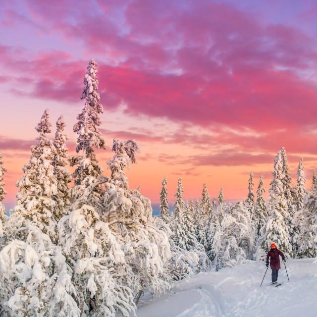 """""""Winter in Åre Sweden"""" stock image"""