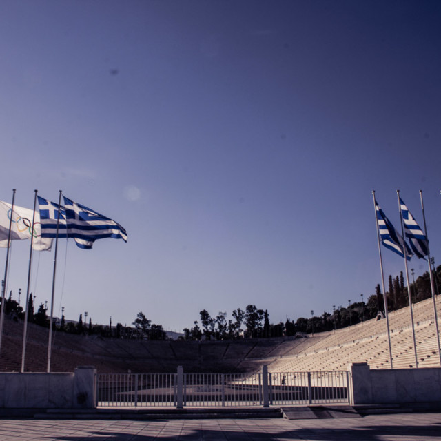 """The Panathenaic Stadium"" stock image"