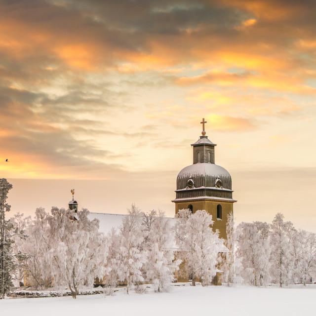 """""""Church of Rödön in Sweden"""" stock image"""
