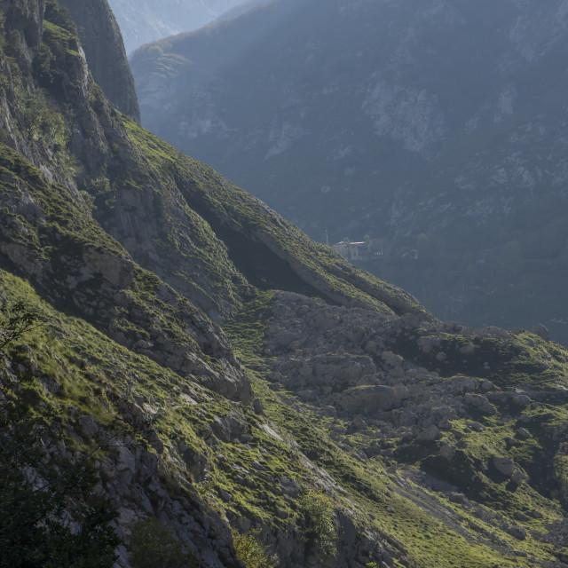 """""""Bulnes valley"""" stock image"""