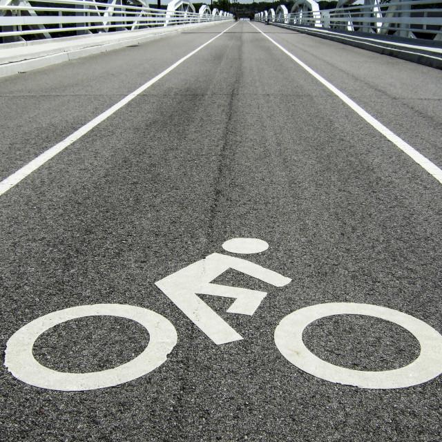 """""""Bicycle lane"""" stock image"""