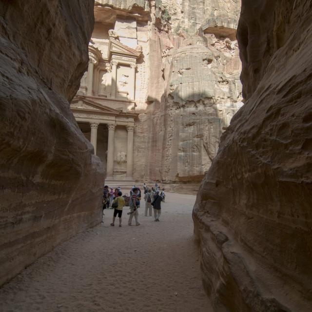 """""""Jordan, Petra, Al Siq"""" stock image"""