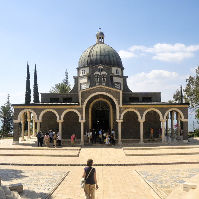 """""""Israel, Galilee, Church of the Beatitudes"""" stock image"""
