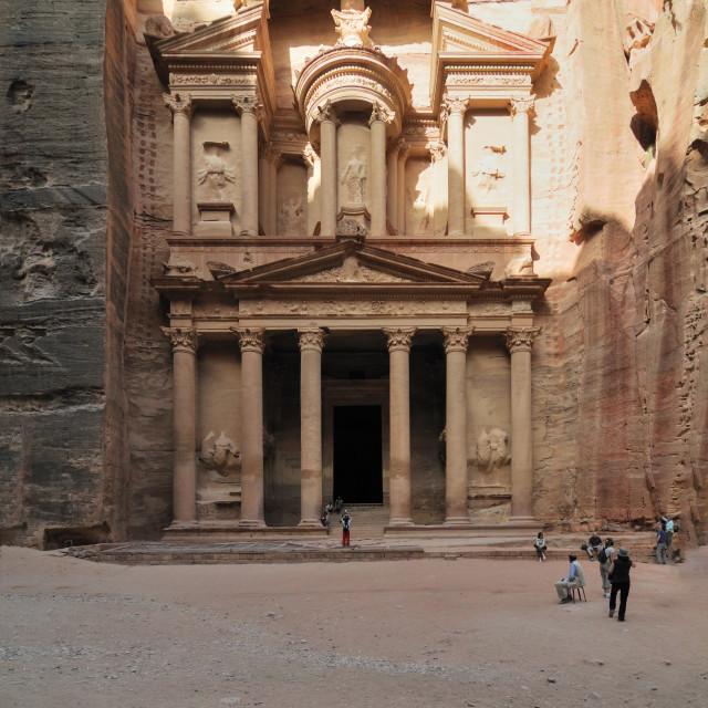 """""""Jordan, Petra the Treasury"""" stock image"""