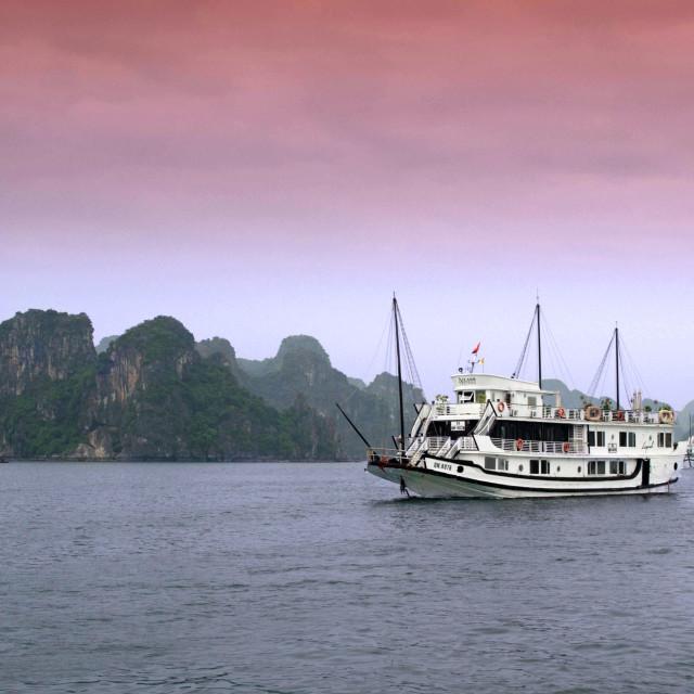 """Tourist cruiser Legend, Ha Long Bay"" stock image"