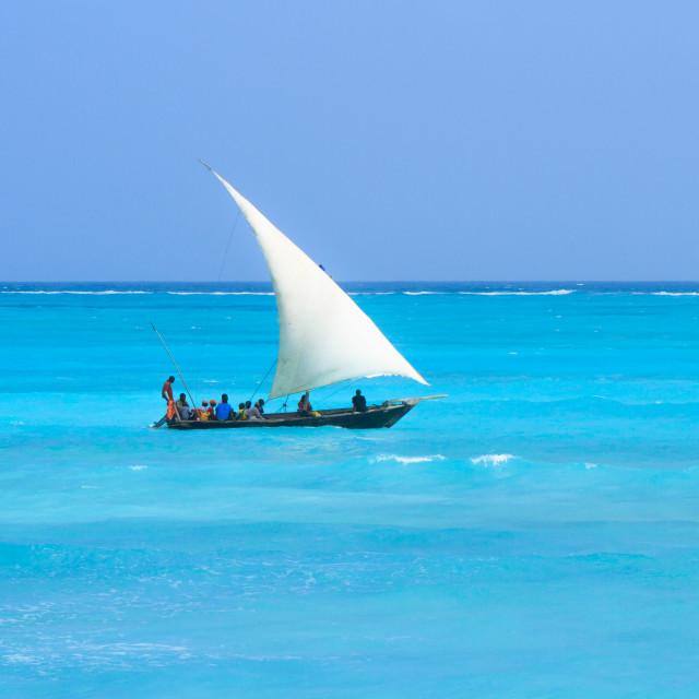 """""""Zanzibar Dhow"""" stock image"""