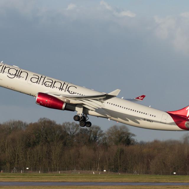"""4B9A0502 A330 G-VRAY EGCC 171228"" stock image"