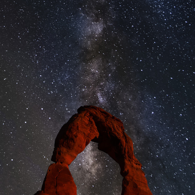 """Summer Milky Way over Arches National Park"" stock image"