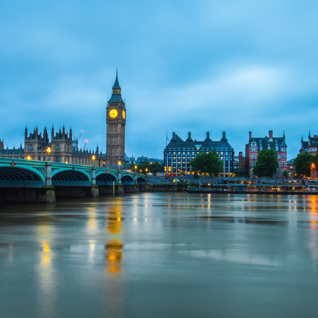 """Cloudy Thames"" stock image"