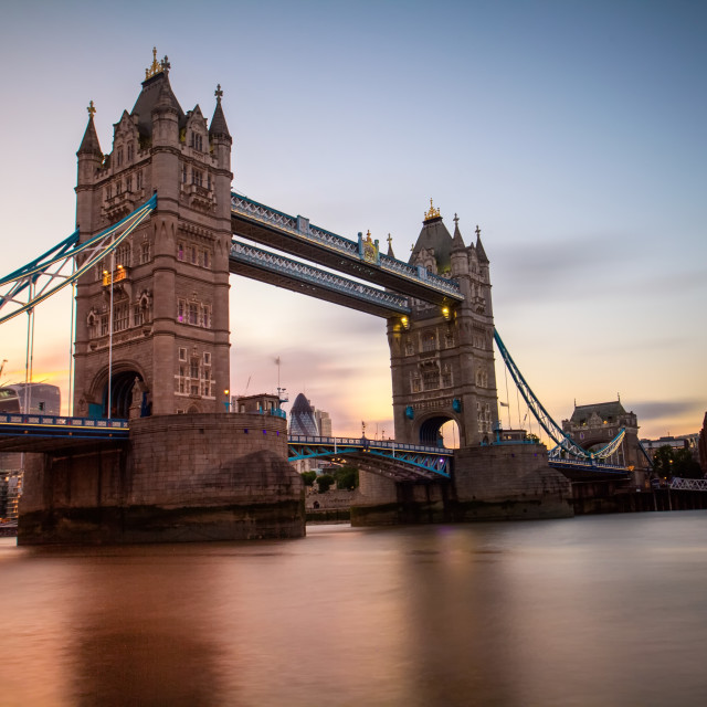 """Sunset at Tower Bridge"" stock image"