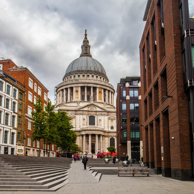"""St Paul's Cathedral View"" stock image"