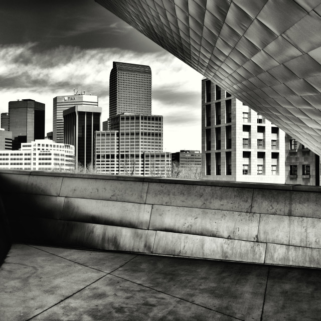 """View from Denver Art Museum"" stock image"