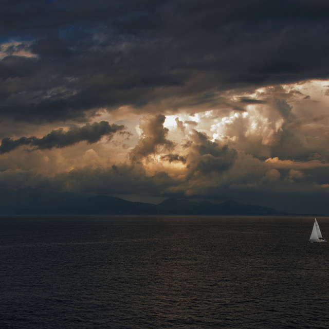 """Storm is coming at Zakynthos"" stock image"