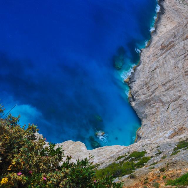 """""""Navagio Beach At Zakynthos"""" stock image"""