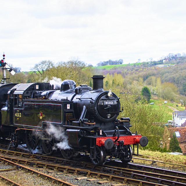 """""""The age of steam"""" stock image"""