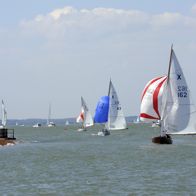 """""""Spring bank holiday weekend sunshine on the Solent"""" stock image"""