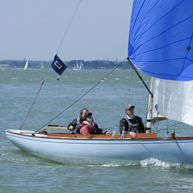 """Spring bank holiday weekend sunshine on the Solent"" stock image"