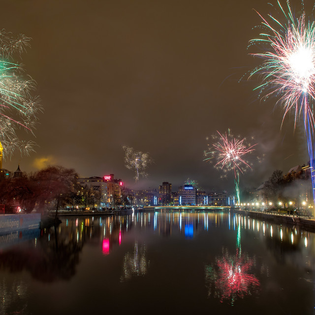 """New years eve fireworks"" stock image"
