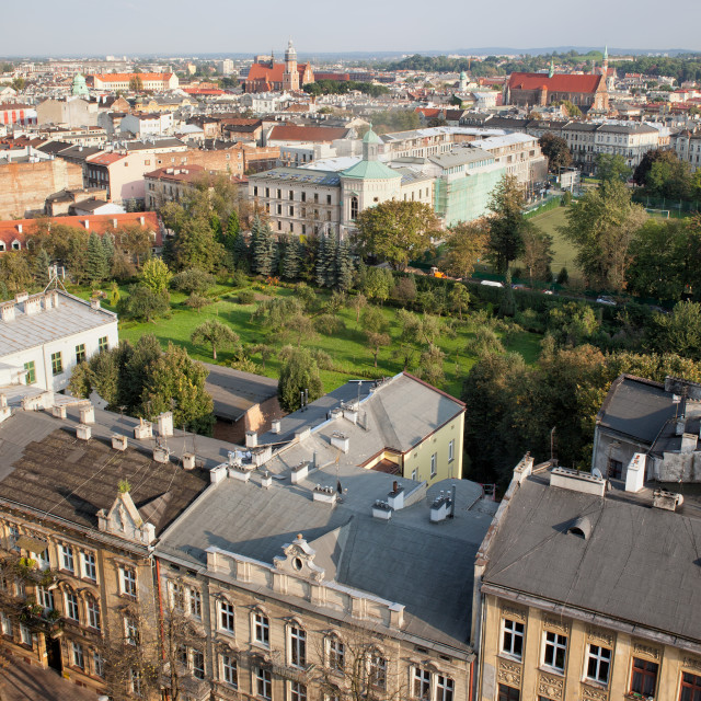 """""""Kazimierz and Stradom from Above in Krakow"""" stock image"""