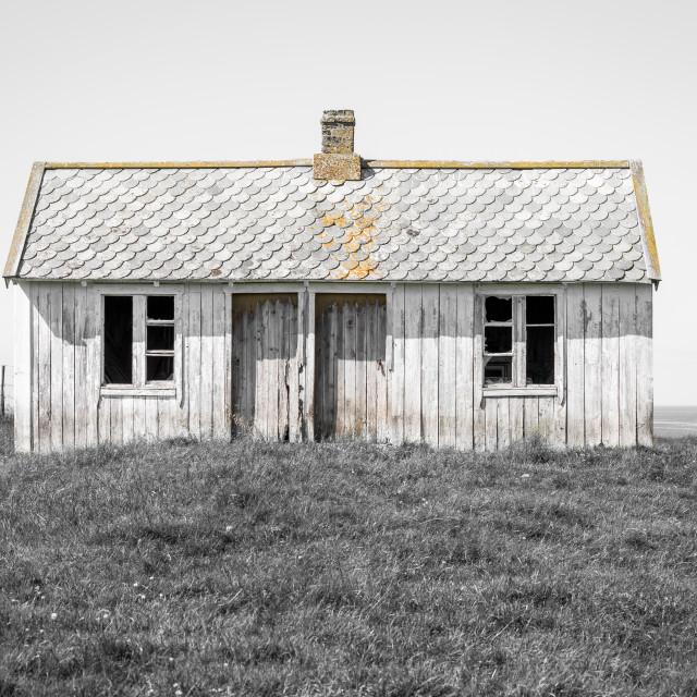 """""""Old abandoned farm house"""" stock image"""