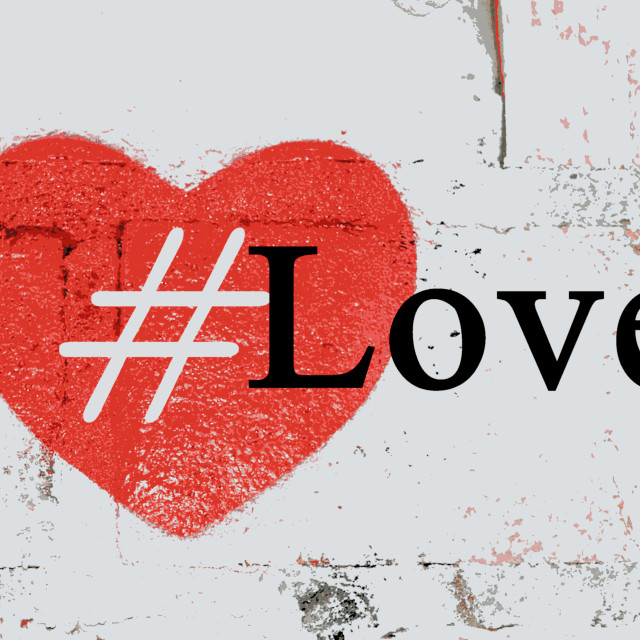 """Hashtag Love"" stock image"