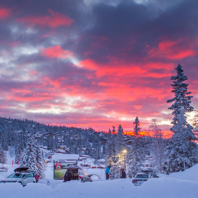 """""""Sunrise in Åre Sweden"""" stock image"""