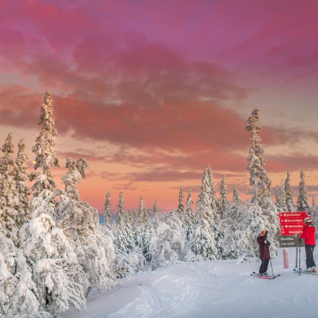 """Ski resort Åre in Jämtland Sweden"" stock image"