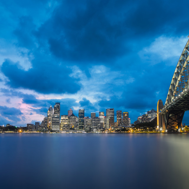 """The Sydney Skyline at Dusk"" stock image"